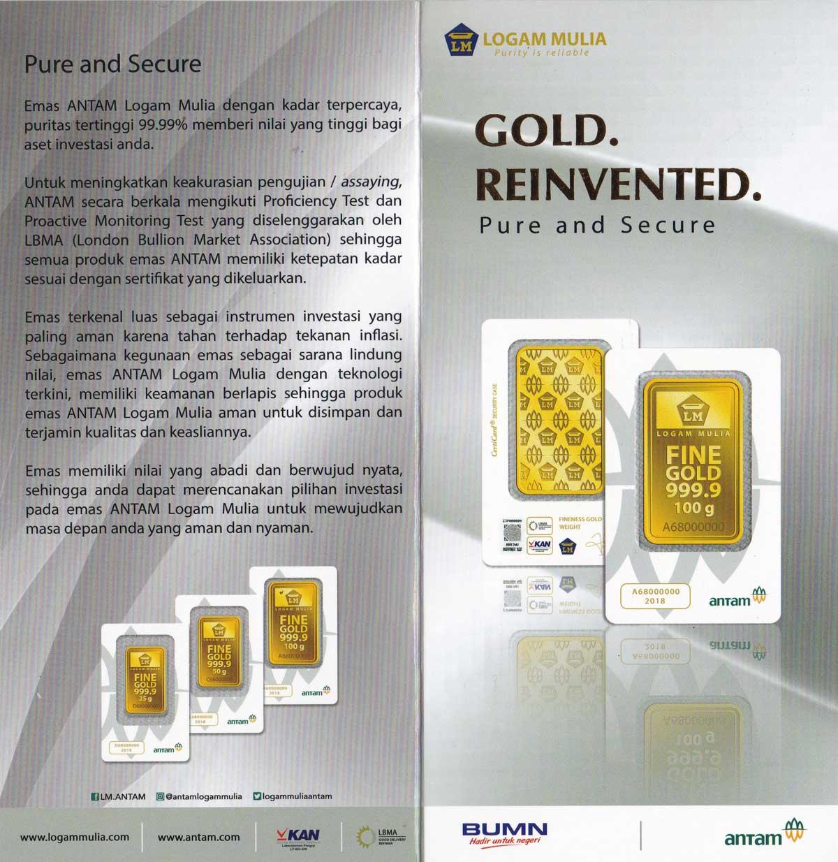 Cara Mengetahui Keaslian Emas Antam Reinvented Yang Baru Indogold
